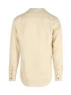 Giorgio Armani Collarless Button-up Shirt - Kc Beige