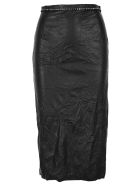 N.21 N21 Crystal-embellished Pencil Skirt - BLACK