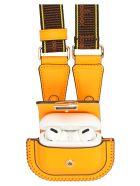 Fendi 'pico Baguette' Airpods Holder - Orange