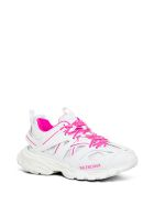 Balenciaga Mix Of Materials Track Sneakers With Logo - White
