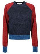 Victoria Beckham Colourblock Sweater - Navy/red Multicolor