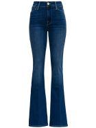 Frame Five  Pockets Flared Blue Denim Jeans - Blu