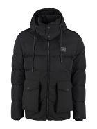 Dolce & Gabbana Hooded Full-zip Down Jacket - black