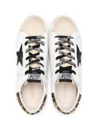 Golden Goose White Leather Super-star Sneakers - Bianco