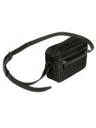 Saint Laurent Logo Front Pocket Top Zip Shoulder Bag - Black