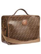 Fendi Double Ff Travel Case - Brown