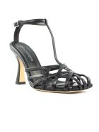 Aldo Castagna Lidia Black Leather Sandal - Nero