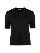 Fendi Jacquard Knit Top - black