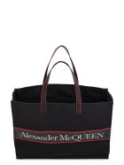 Alexander McQueen Canvas Tote Bag - Nero e Rosso