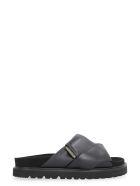 Moncler Fantine Leather Sandals - Nero