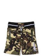 Givenchy Sporty Bermuda With Camouflage Print - Kaki