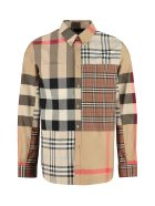 Burberry Checked Poplin Shirt - brown