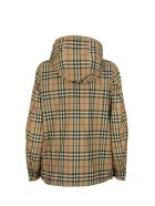 Burberry Everton Vintage Check Recycled Polyester Hooded Jacket - Archive Beige