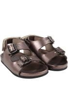 Gallucci Brown Sandals For Kids - Brown