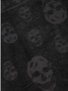 Alexander McQueen Tonal Skull Scarf - Nero