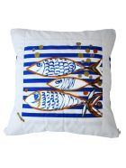 Le Botteghe su Gologone Hand Painted Cushions 70x70 Cm - Red Fantasy