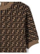 Fendi Brown Cotton/cashmere/wool Romper - Marrone