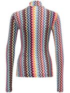 M Missoni Long-sleeved T- Shirt With Multicolor Zig Zag Print - Multicolor