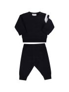 Moncler Blue Tracksuit For Baby Kids With Patch - Blue
