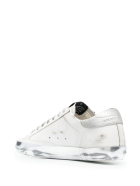 Golden Goose Super-star Man White Sneakers With Glitter Star And Spoiler