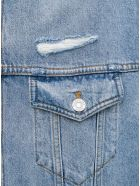 Balenciaga Organic Denim Jacket With Pockets - Blu