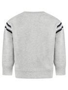 Burberry Grey Sweatshirt For Kids With Logo - Grey