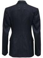 Maison Margiela Double-breasted Pinstripe Wool Blazer - Grey
