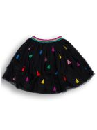 Stella McCartney Kids Black Tulle Skirt With Tassel Detail - Black