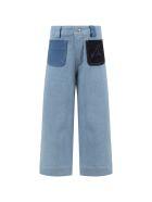 Sonia Rykiel Light Blue Jeans For Girl With Logo - Denim