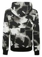 Dolce & Gabbana Camouflage Logo Hoodie - Black/White