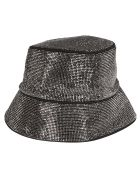 Kara Silver Bucket Hat - SILVER BLACK
