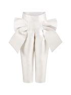 Simonetta Ivory Trouser For Girl - White