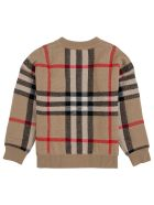 Burberry Beige Vintage Check Wool And Cashmere Sweater - Beige