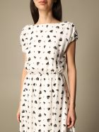 Armani Collezioni Armani Exchange Dress Long Armani Exchange Dress With Heart Pattern - White