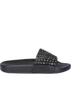 Menghi Slide Sandals - Black