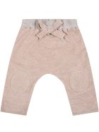 """Caffe' d'Orzo Multicolor """"dafne"""" Trousers For Baby Girl With Bow - Pink"""