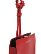 Jil Sander Tangle Red Leather Crossbody Bag For Smartphone - Red