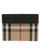 Burberry Sandon Vintage Check Card Holder - Black