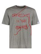 Golden Goose Adamo Creativity Is The Answer Regular T-shirt - Grey/Red
