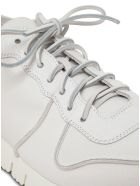 Buttero Carrera Black Leather Sneakers - White