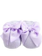 Story loris Lilac Baby Bootee For Babygirl - Violet