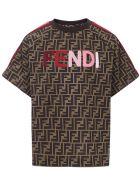 Fendi Kids Zucca T-shirt - Brown