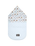 Moschino Light Blue Sleeping Bag For Baby Boy With Logo - Light Blue