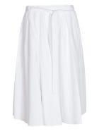 Prada Tie-waist Pleated Skirt - White