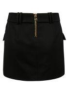 Balmain Belted Waist Skirt - Black