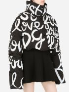 Dolce & Gabbana Cropped Jacket With Print - Black