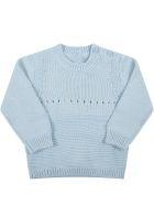 Stella McCartney Kids Light Blue Sweater For Baby Boy With Dog - Light Blue