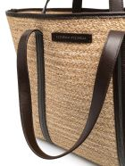 Brunello Cucinelli Techno Raffia Chevron Shopper Bag - Beige+marrone