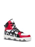 Dsquared2 Icon Color Block High Leather Sneakers - Red