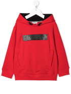 Givenchy Red Kids Hoodie Black Logo Application - Rosso